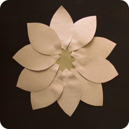 DIY Kraft Paper Flower by SparklingTwine.com