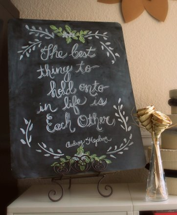Chalkboard Re-creation by SparklingTwine.com