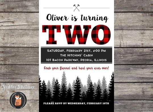 4x6 Lumberjack 1st Birthday Party - Etsy TWO JPEG