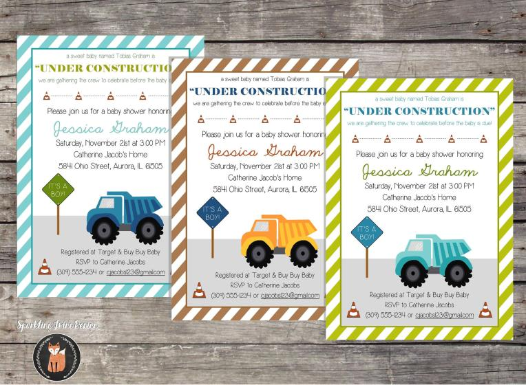 5X7 Construction Baby Shower - Etsy JPG