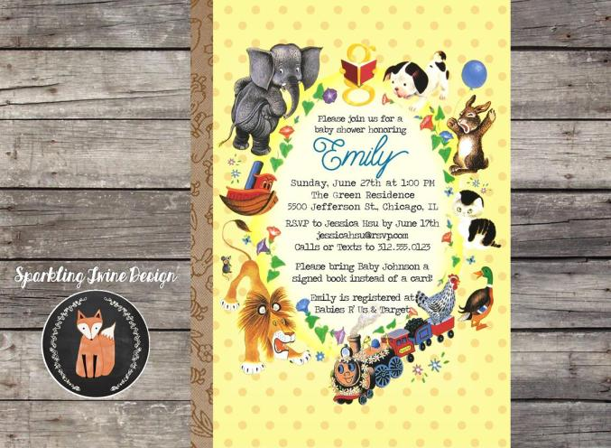 5x7 Vintage Book - Baby Shower - Etsy JPG
