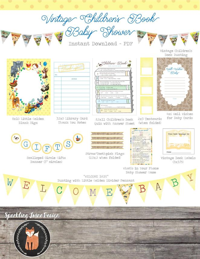 Vintage Children's Printable set Image