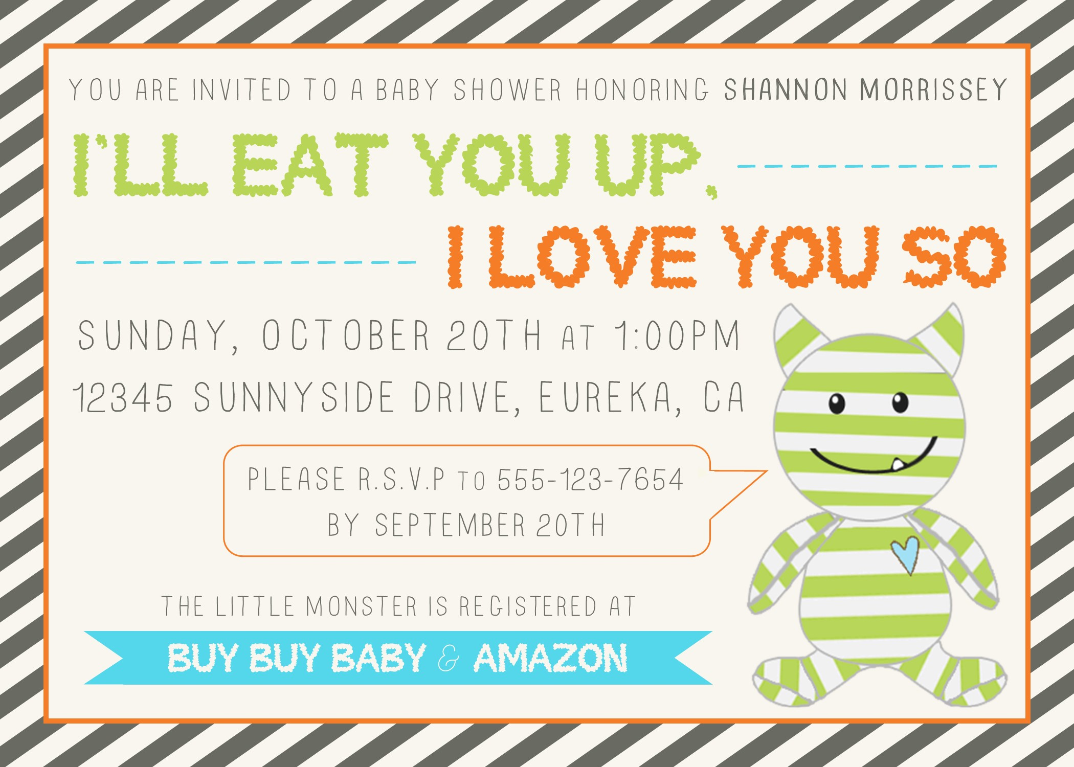 Monsters Inc Invitation for nice invitations example