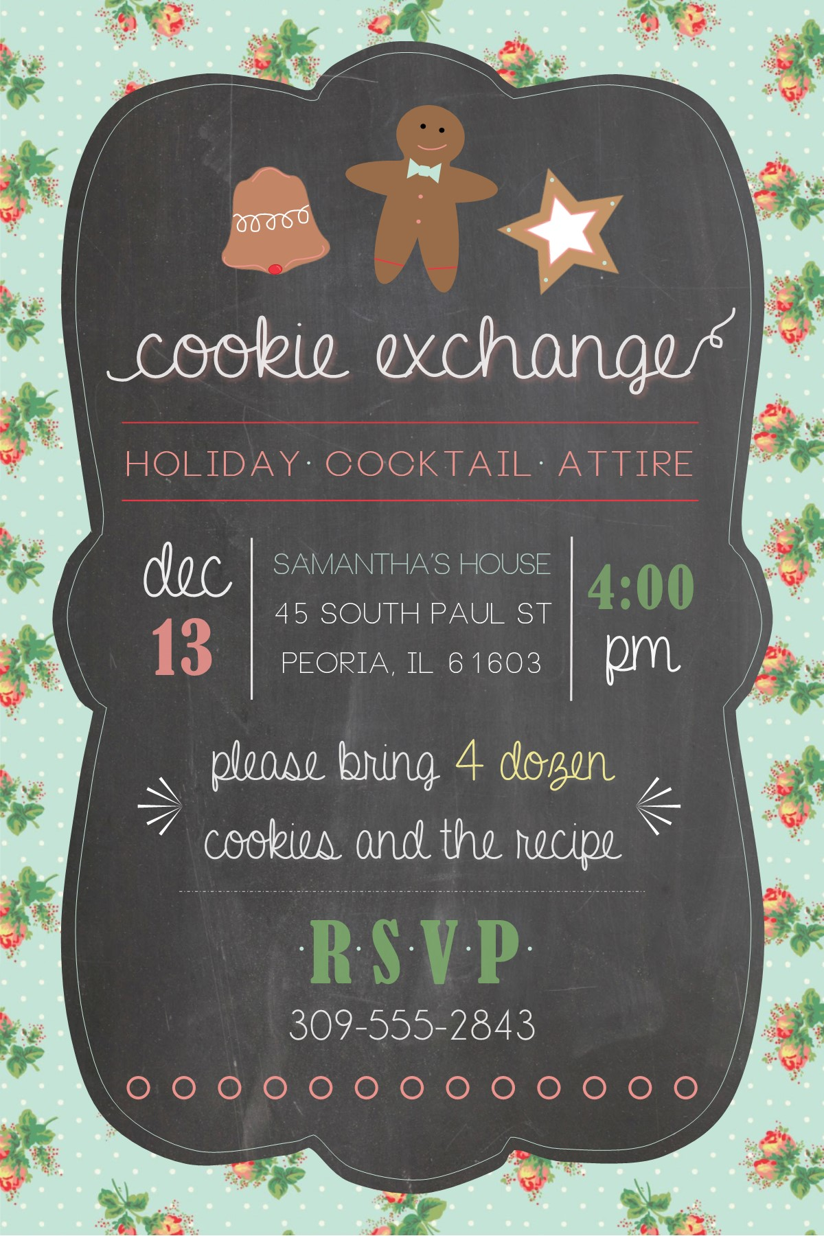 Chalkboard Inspired Invitations : : Baby Shower & Holiday ...