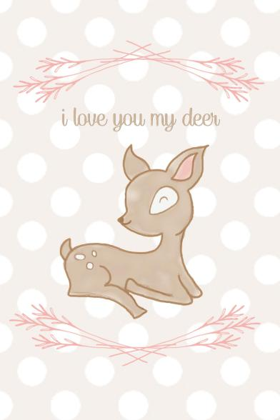December 2013 iPhone Wallpaper by SparklingTwine.com - I love you my deer!