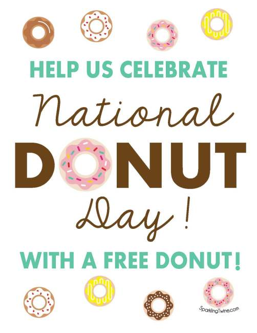 National Donut Day - SparklingTwine.com